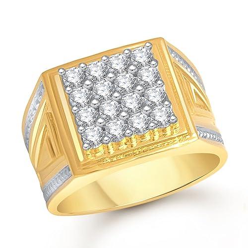 Meenaz Jewellery Valentine Birthday Gifts Styish Party Wear Gold Wedding Rings For Men Man Boys Gents Boyfriend Ring FR457 Size 24