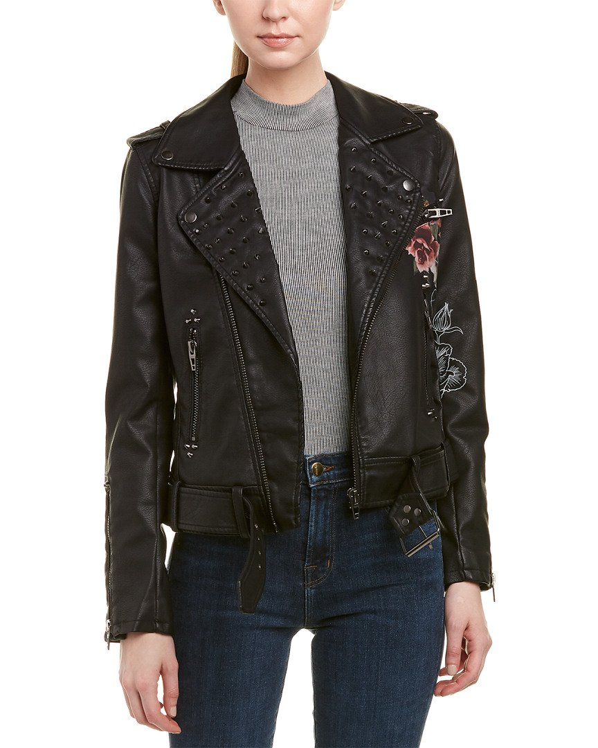 [BLANKNYC] Women's Floral Moto Jacket, Love/Leave, Small