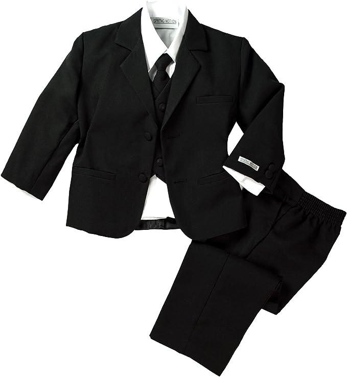Amazon.com: Conjunto de traje de vestir negro formal de ...