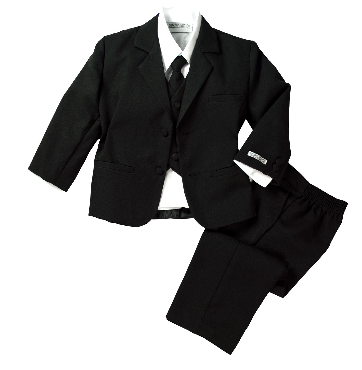 Spring Notion Baby Boys' Classic Fit Formal Black Dress Suit Set 18M (Large) by Spring Notion