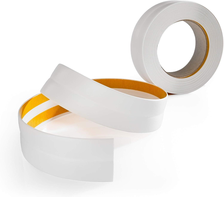 mako flexibler Knickwinkel Sockelleiste selbstklebend 18x18mm weiß PVC Rolle 25m
