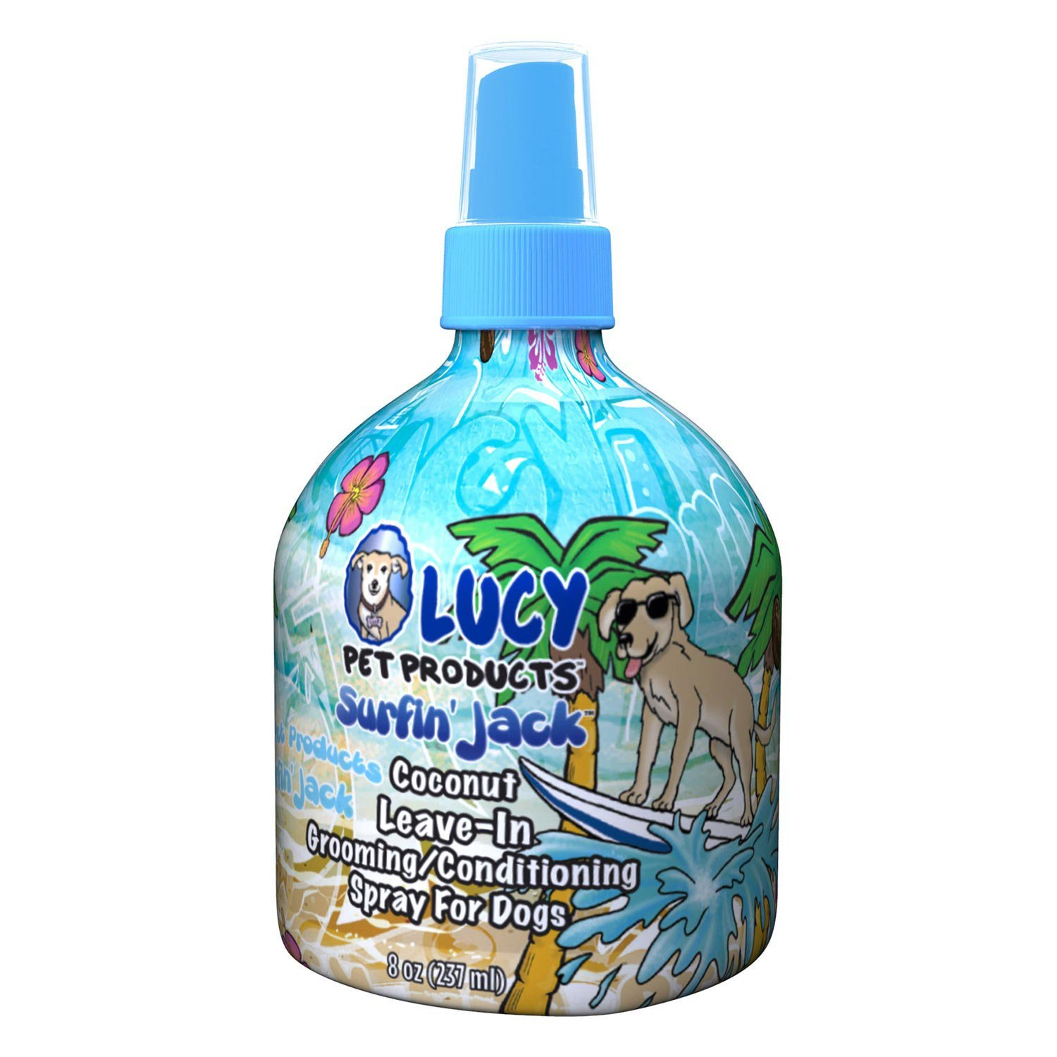 Lucy Pet Surfin' Jack Moisturizing Coconut Leave in Conditioning Dogs Spray 8oz
