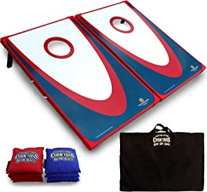 Driveway Games Cornhole Set. Tailgate Corn Toss Boards & Bean Bags