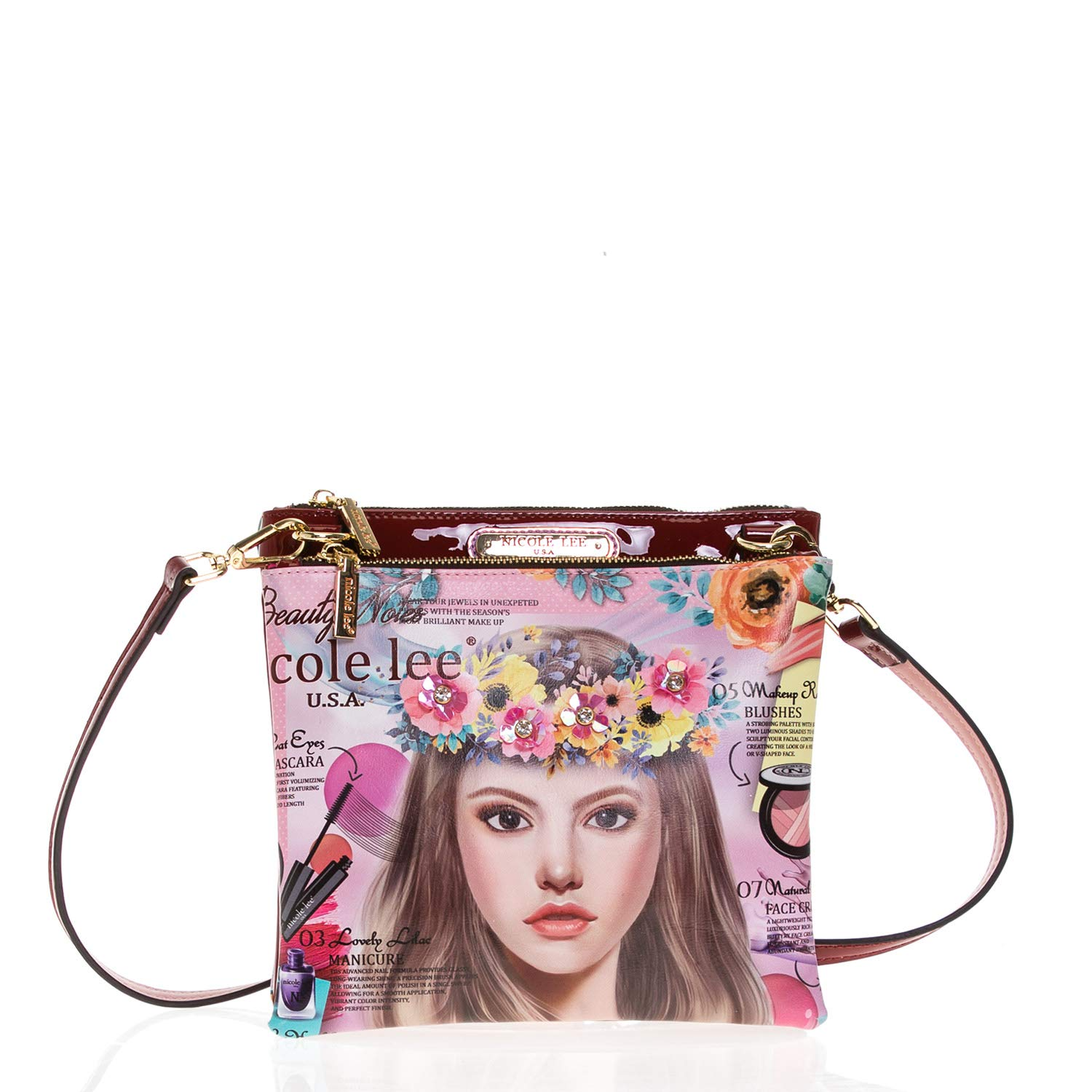Flower Crossbody with Back Zipper Pocket and Adjustable Shoulder Strap: Handbags: Amazon.com