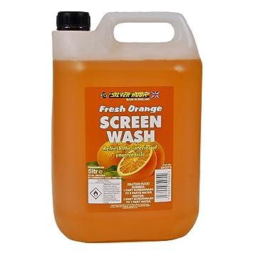 Silverhook SHXF5 - Líquido de limpiaparabrisas, Fragancia de Naranja, 5 litros