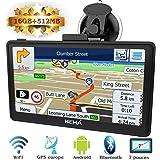 Hieha® GPS Auto Voiture ou Camion Android Système d'Operation 4.4.2 Navigation16Go Wifi Bluetooth 7 Pouces Écran HD Tactile Capacitif Carte d'Europe Pré-installée Navigateur Cartographie Gratuits à Vie