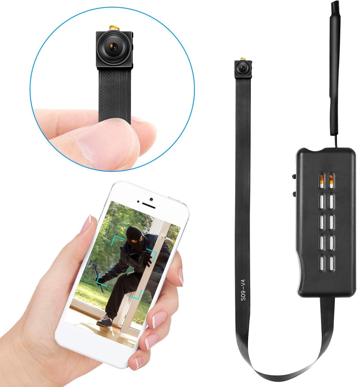 Facamword Spy Camera Wireless Hidden Cameras DIY Module Nanny Cam WiFi Covert Cam for Home Security Motion Detection Alarm & Record Live Streaming via Android iOS APP
