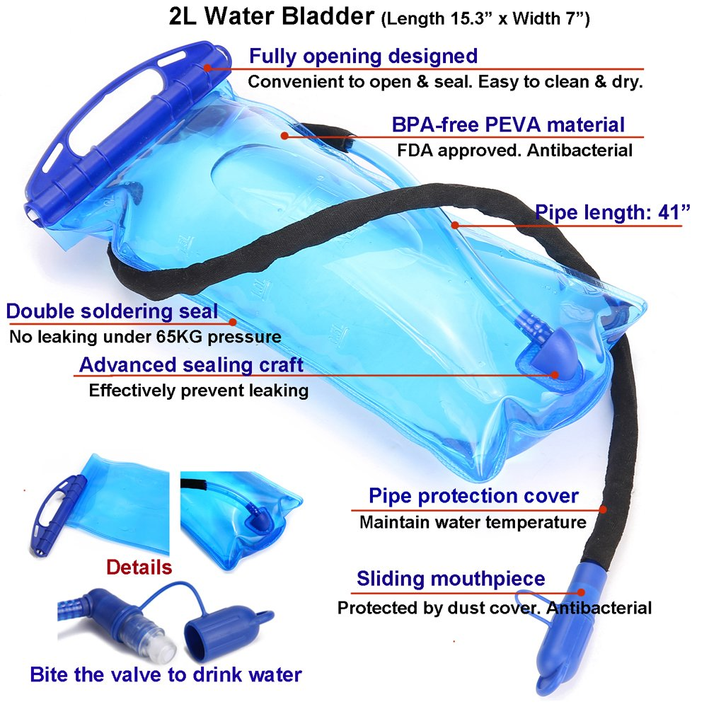 Amazon.com : ULTRA-TRI Hydration Trail Running Backpack 15L Professional Lightweight Outdoor Sports Bag Pack Blue with 2L Water Bladder : Sports & Outdoors
