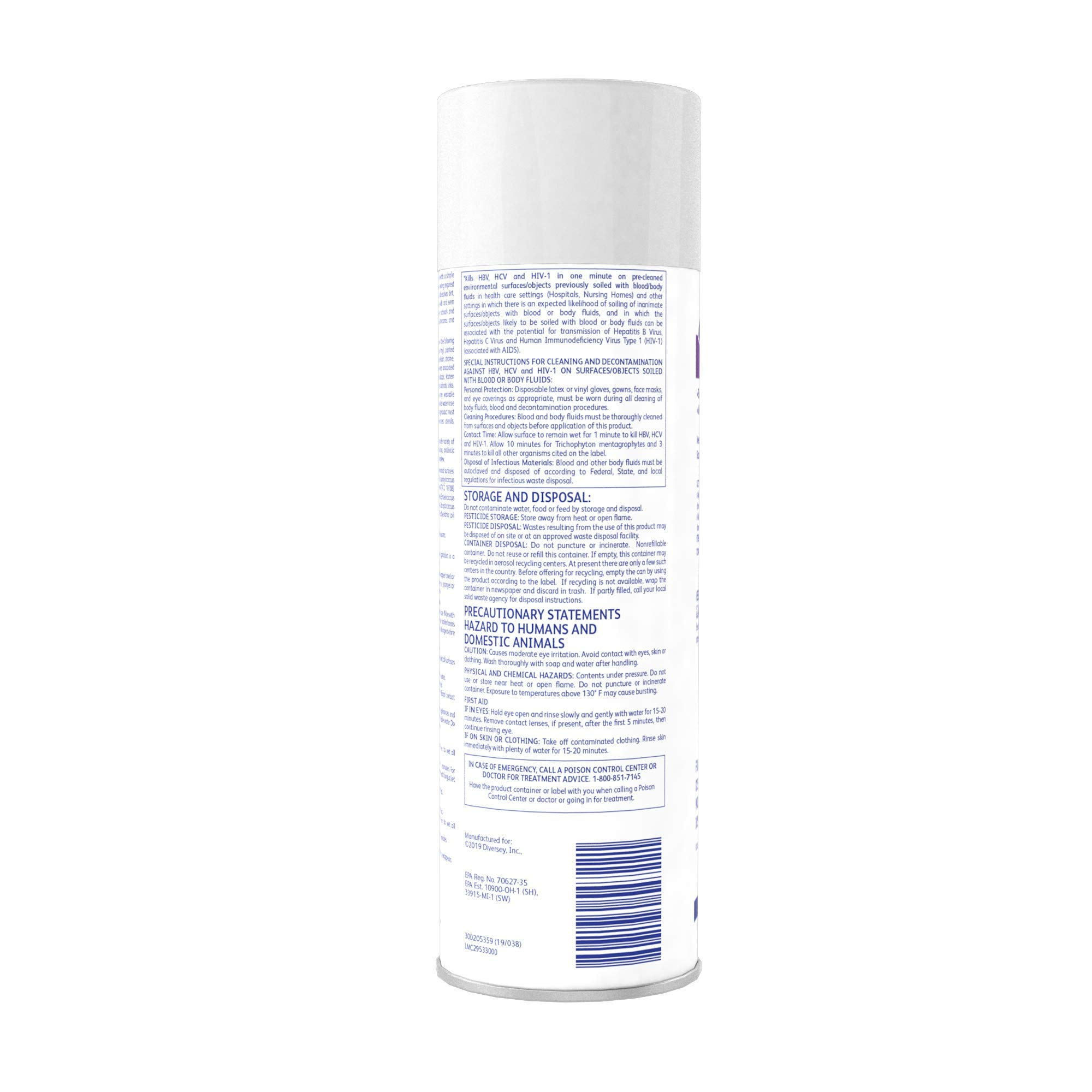Diversey Envy 04531 Foaming Disinfectant Cleaner, 12 x 19 oz./539 g Aerosol by Diversey (Image #5)
