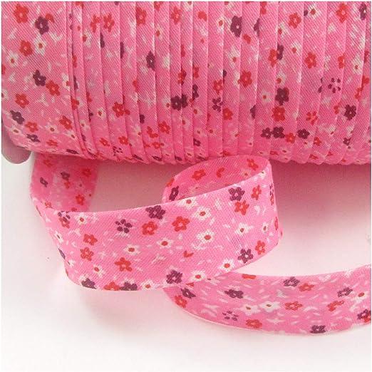 Cinta de algodón de 20 mm con diseño de bies, ribete de ribete, Style 24 H4494, 1 m: Amazon.es: Hogar