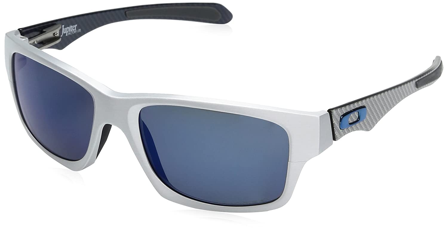 Oakley Jupiter Factory Lite Sunglasses in Brushed Aluminium Ice Iridium Polarised - OO4066 04 57 Jupiter Factory Lite OO4066 04 57 Jupiter Factory Lite 57 ...