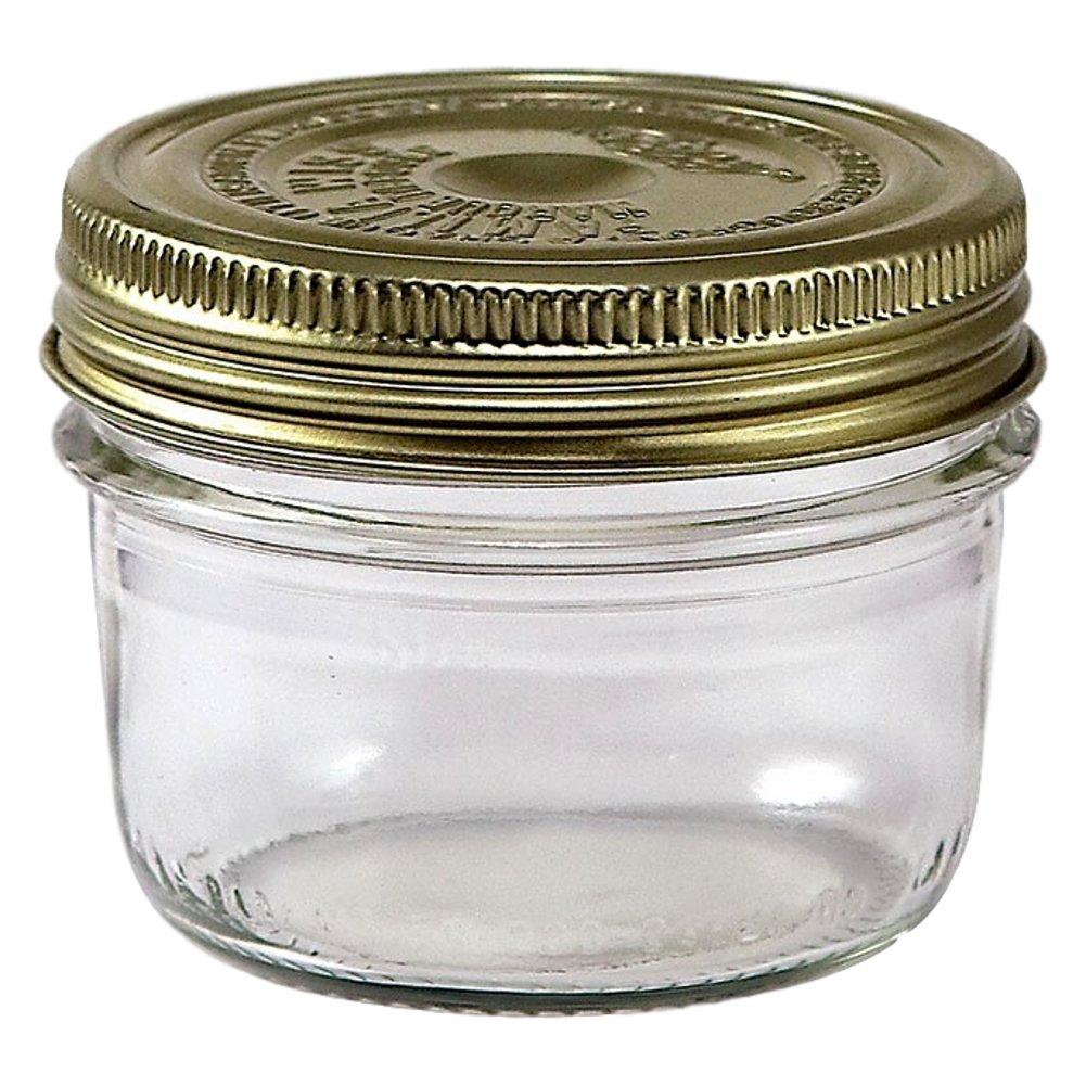 6 Le Parfait Familia Wiss Terrines - Wide Mouth French Glass Mason Jars - Preserve, Store, Serve, Décor (6, 200ml - 7oz - Half Pint)