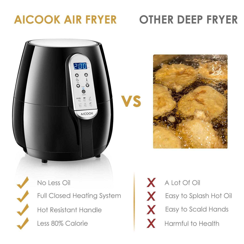 Amazon.com: AICOOK freidora de aire, 4.5QT freidoras ...