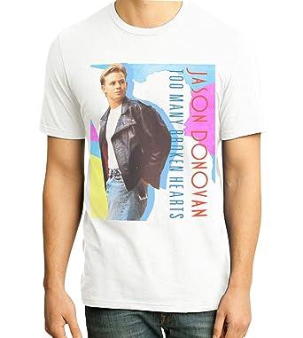 7076ca09f9965 Retro Tees Mens Jason Donovan T-Shirt - 1980s Classic Too Many ...
