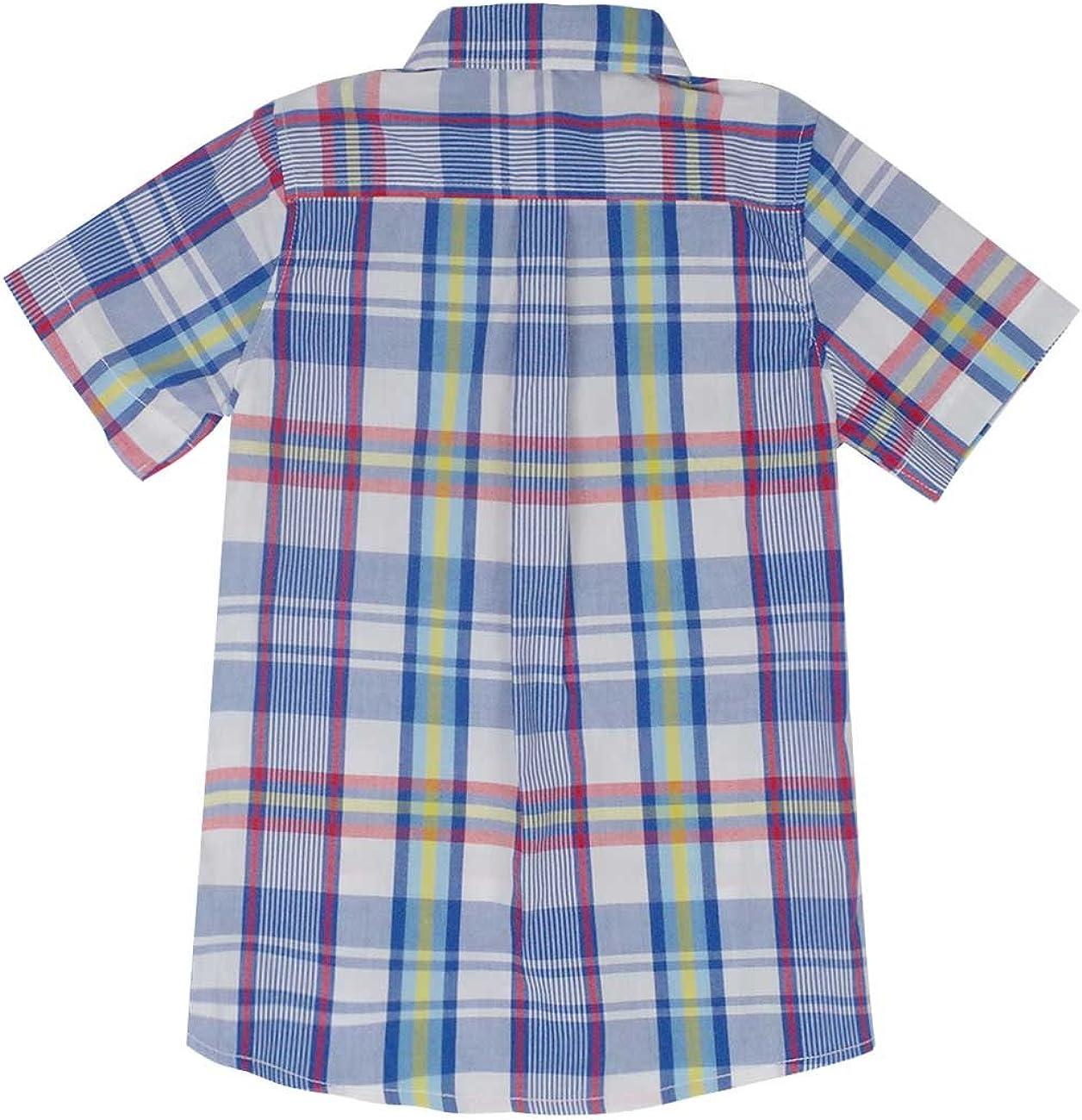 Spring /& Gege Ragazzo Camicie a Quadri Maniche Corta Casual Shirt per Bambini