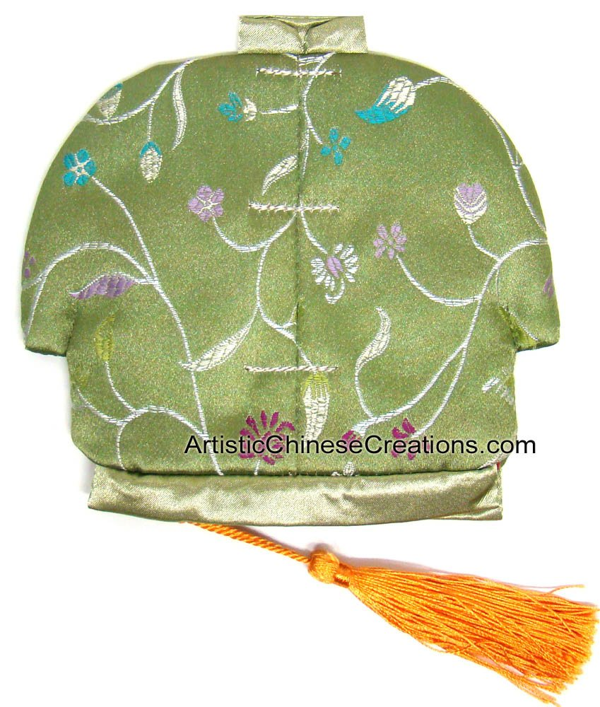 Chinese Apparel / Chinese Clothing & Accessories - Chinese Jacket Silk Purse - Flowers by Artistic Chinese Creations