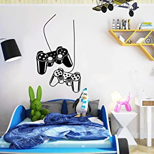 WEWINLE Game Wall Stickers for Kids, Gamer Poster Murals Wall Decals for Boys Room Bedroom Living Room Home Decor Decal (GAME-006)