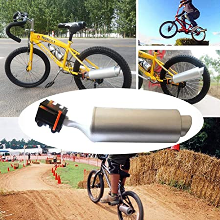 Sistema de accesorios para tubo de escape de motocicleta, sistema de sonido de escape de bicicleta, accesorio de ciclismo para motor de niños 35 x 7.5 cm plata: Amazon.es: Hogar