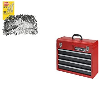 Craftsman 4 Drawer Metal Portable Chest Toolbox Includes 311 Pc. Mechanics  Tool Set With