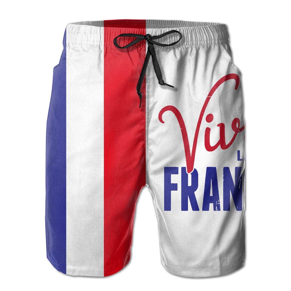 DS-co Viva La France Flag Men's Summer Beach Quick-Dry Surf
