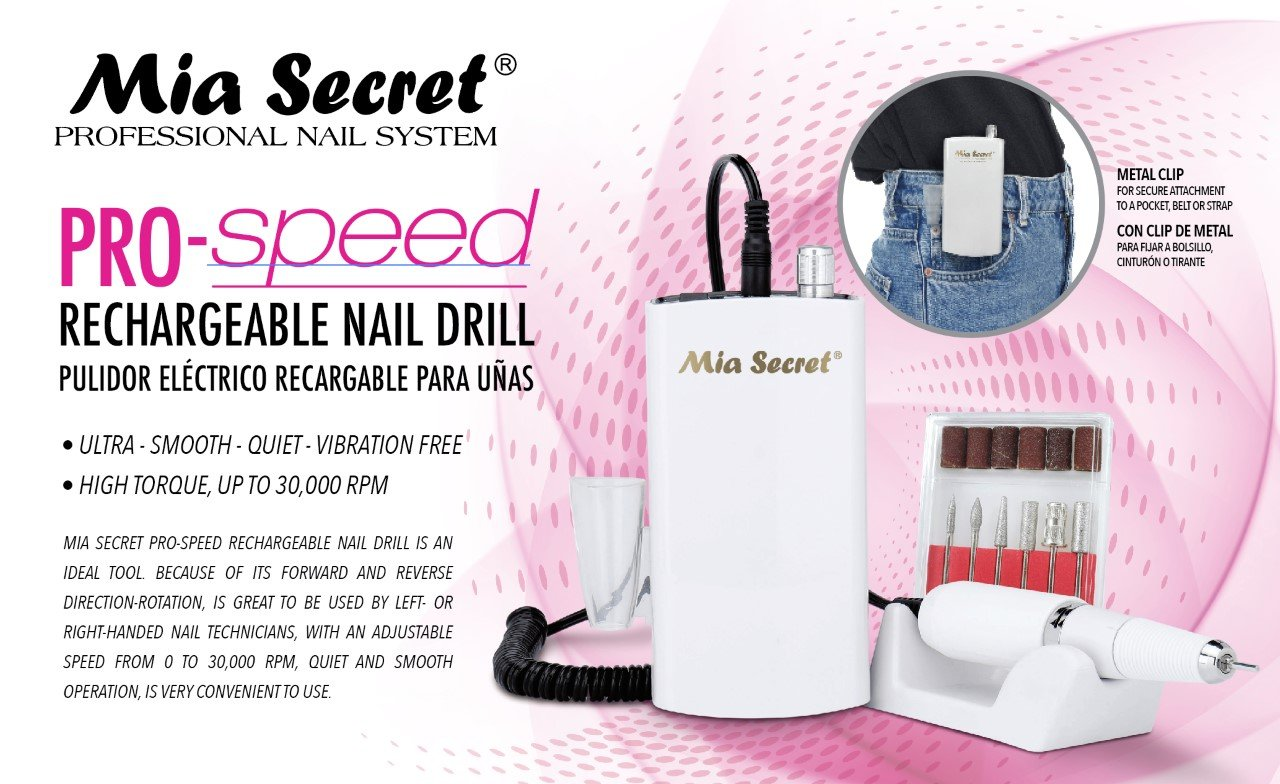 Mia Secret - PROFESSIONAL Pro-Speed Rechargable Nail Drill NEW ITEM !