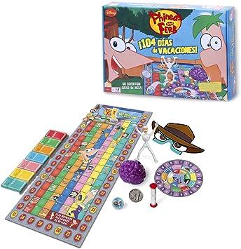 Phineas y Ferb - Phineas Y Ferb. 104 Días De Vacaciones. Juego De Mesa (Famosa) 700008746: Amazon.es: Juguetes y juegos