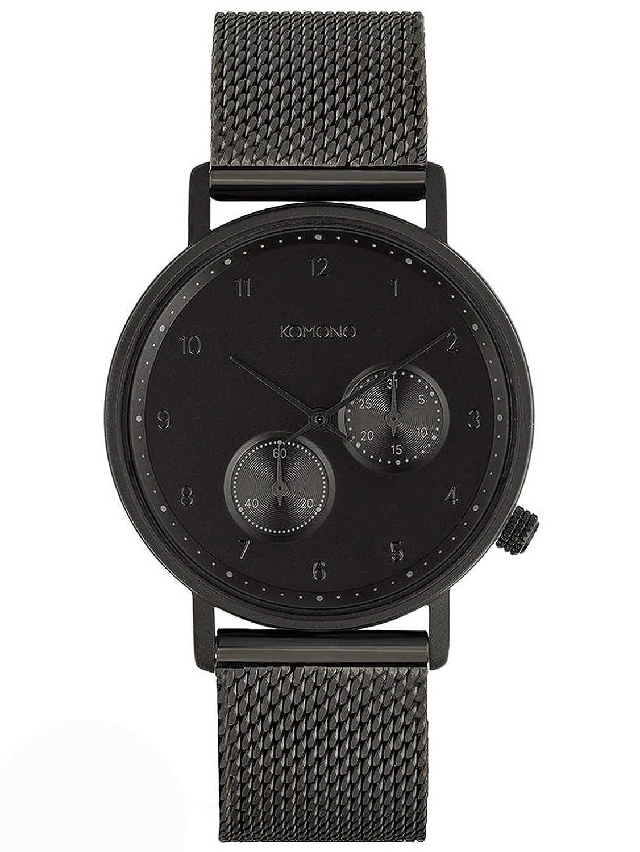 Komono Crafted Walther Black Mesh Armbanduhr KOM-W4021