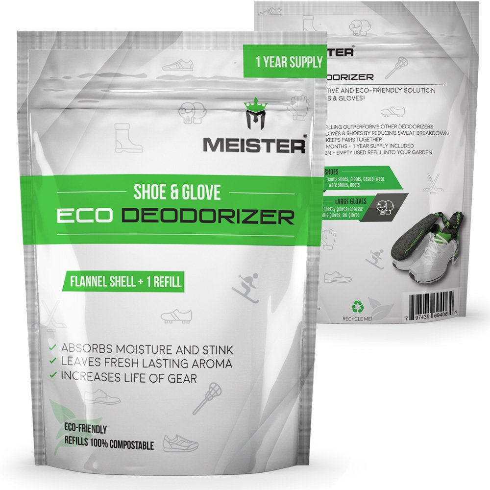 Powerful Meister Shoe /& Glove Eco Deodorizer Absorbs Stink Refill 1 Year Supply Refillable