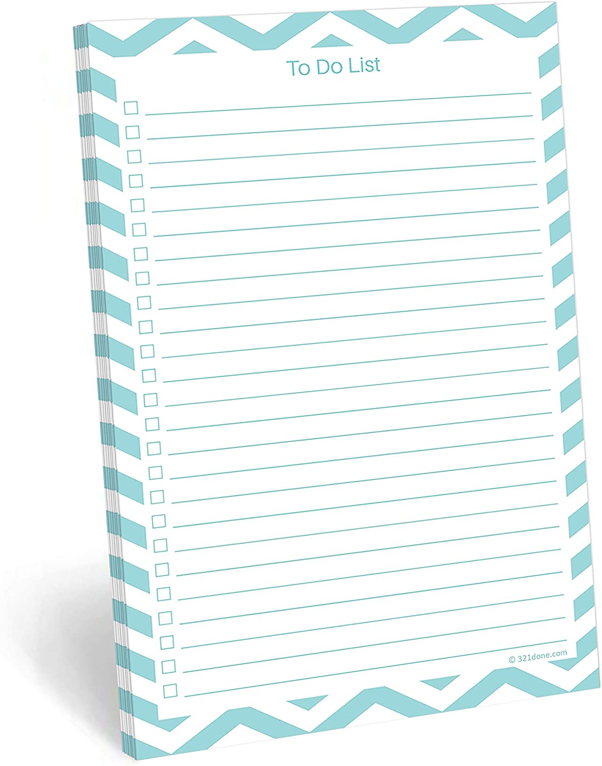 321Done to Do List Notepad - 50 Sheets (5.5