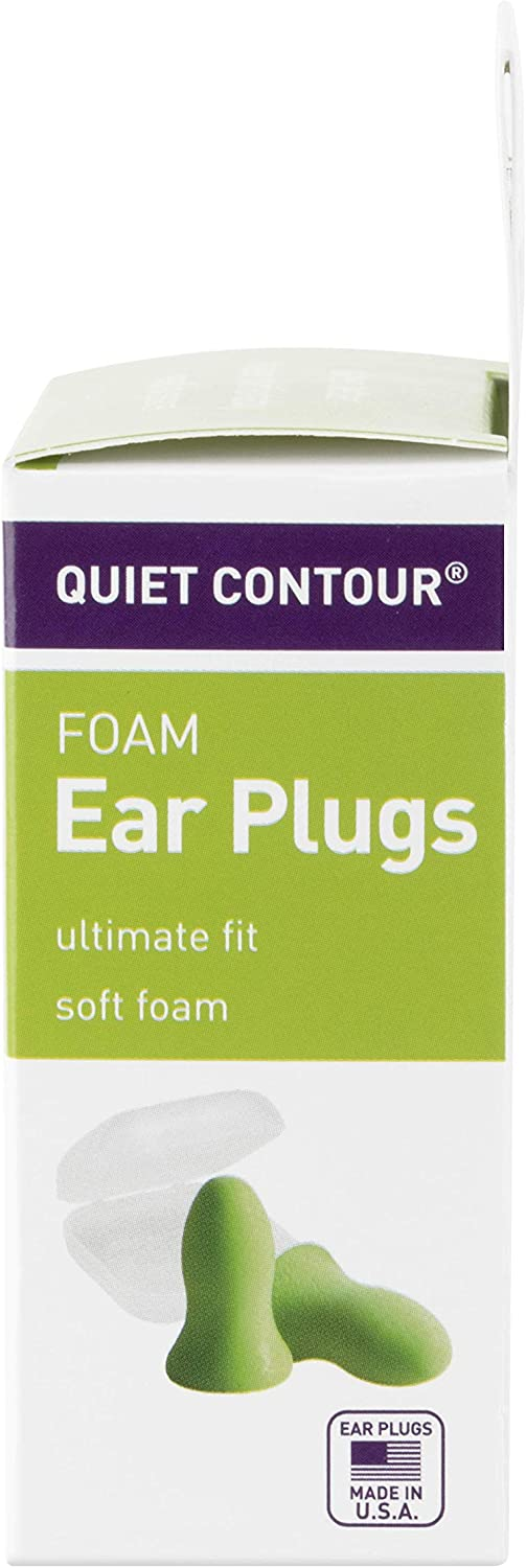 Flents Quiet Contour Ear Plugs/Earplugs | 10 Pair | Case Included | NRR 33 | Made in The USA