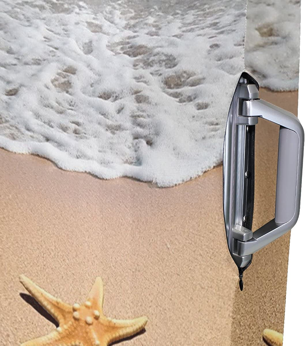 Beach Starfish Seashell Luggage Cover Suitcase Protector Fits 18-20//22-24 Inch