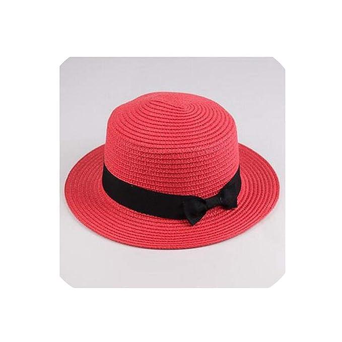 57a7b0c3 2019 Sun Straw hat Boater hat Women's Bow Summer Hats for Women ...