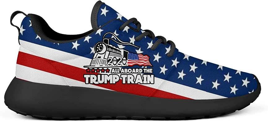 Queen Hero Trump 2020 USA Flag MAGA President Zapatillas de moda casual antideslizantes para hombre, Negro (Bandera de Estados Unidos), 43.5 EU: Amazon.es: Zapatos y complementos