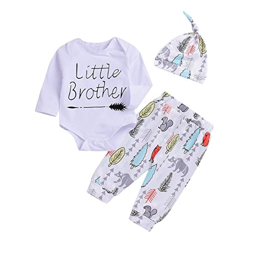 da000e03f6eb Amazon.com  Christmas Newborn Baby Boys Cute Outfit Little Brother ...