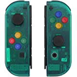 eXtremeRate Emerald Green Joycon Handheld Controller Housing with Full Set Buttons, DIY Replacement Shell Case for…