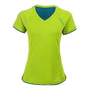 Aropec Camiseta Running Mujer - Camisa Funcional - L