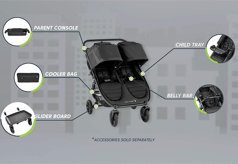 Funda para cochecito de beb/é para cochecito de beb/é para City Mini 2 Double /& City Mini GT2 Double /& City Baby Jogger Bloquea la lluvia la nieve y el viento