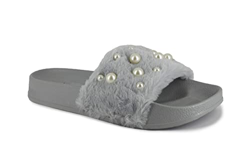 5bca95f2272 kruchika Stylish FLIP Flop Grey Slippers for Women Girls Party WEAR ...