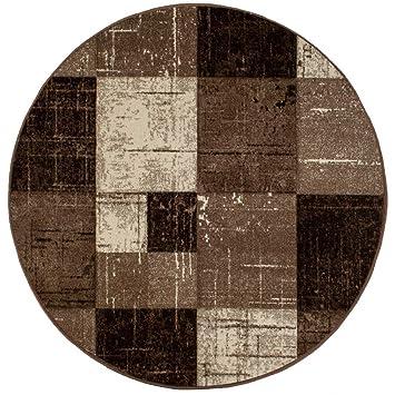 Amazon De Trendcarpet Runde Teppiche London Square Schokolade
