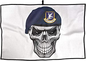 Alin-Z Golf Towel Air Force Security Forces Skull Microfiber Sports Towel Player Towel 23.6x15 Inches