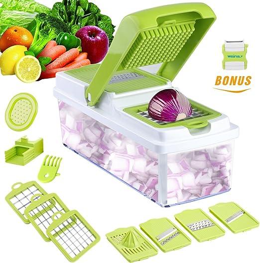 Multi Blades Mandoline Slicer Fruit Vegetable Chopper Kitchen Cutter Food Tool