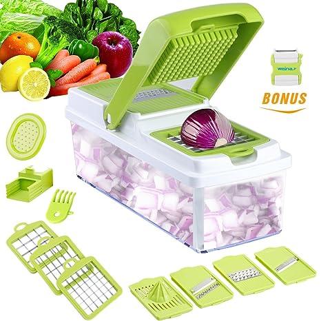 Amazoncom Vegetable Slicer Dicer Weinas Food Chopper Cuber Cutter