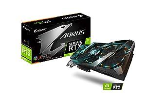 Gigabyte AORUS GeForce RTX 2080 Ti 11G Graphics Card, 3X Stacked Windforce Fans, 11GB 352-bit GDDR6, GV-N208TAORUS-11GC Video Card