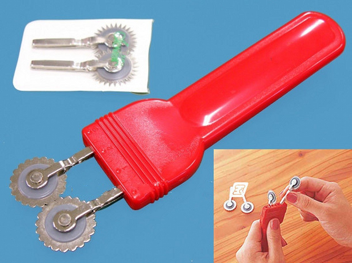 WellieSTR 4 In 1 Double Tracing Wheel Sewing Over Stitching Wheel Overstitch Wheel Tool Kit Ltd