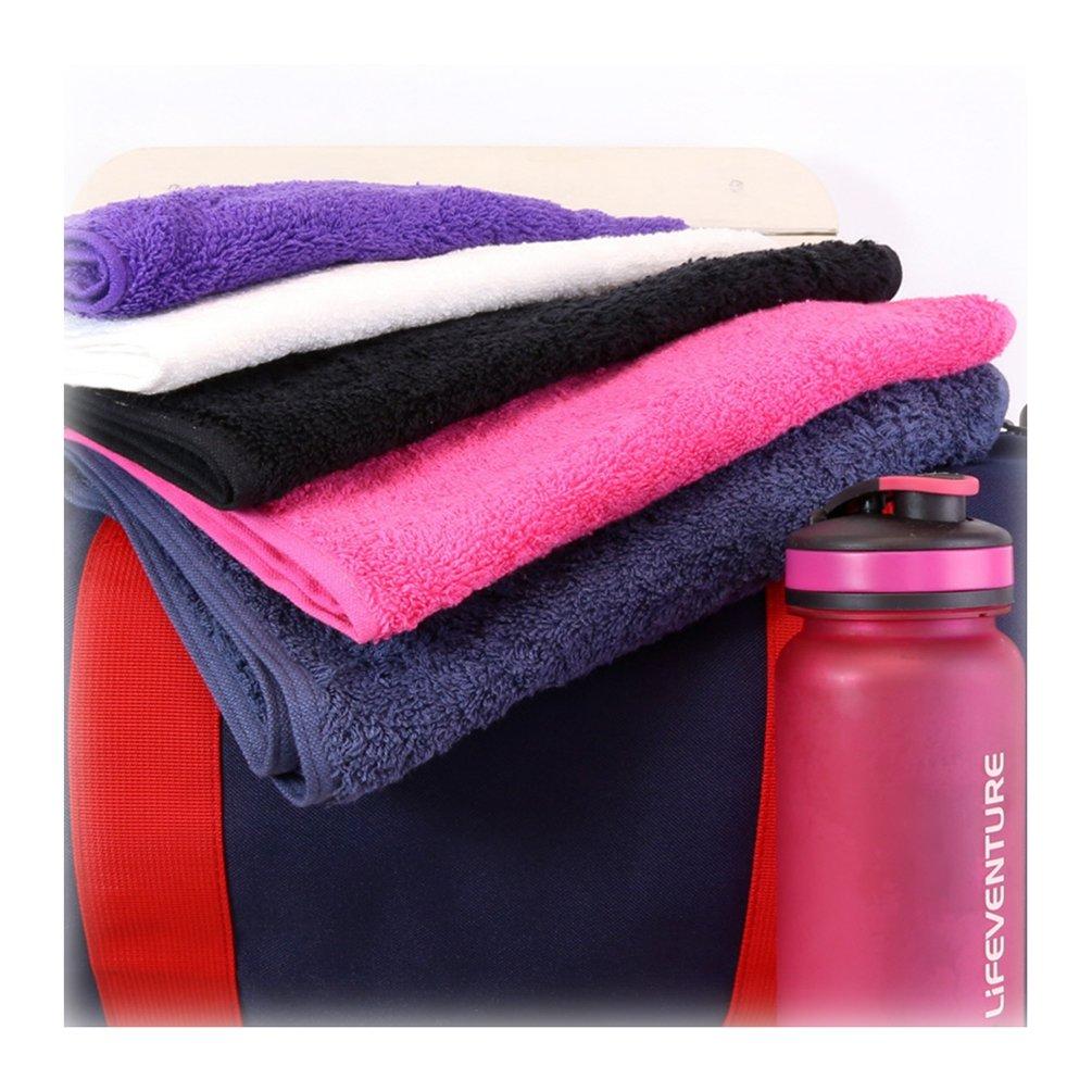 TowelsRus Aztex Deluxe Sports Gym Towel 500gsm Black 30cm x 90cm 100/% Cotton by Towelsrus