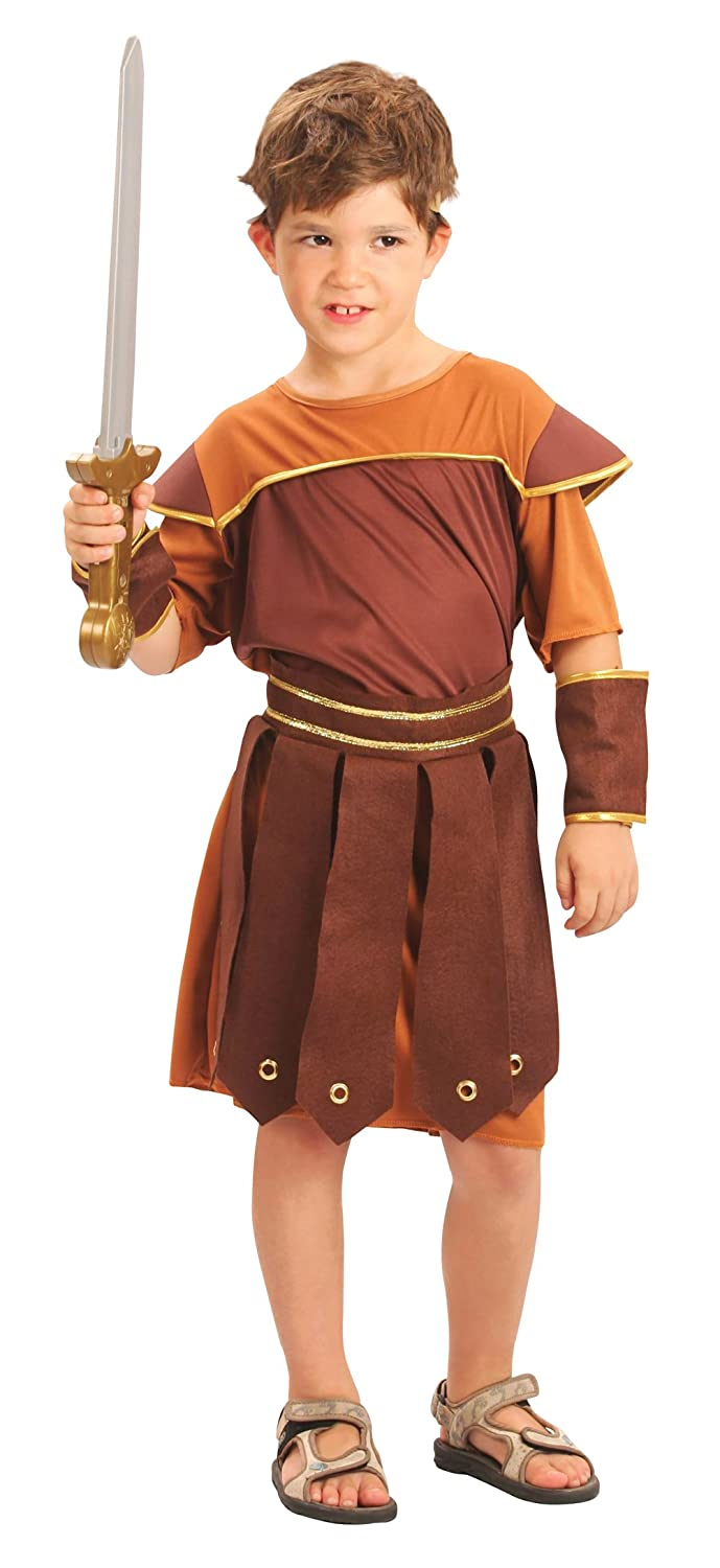 Bristol Novelty CC592 Roman Soldier Costume, Small, 110 - 122 cm, Approx Age 3 -5 Years, Roman Soldier (S)