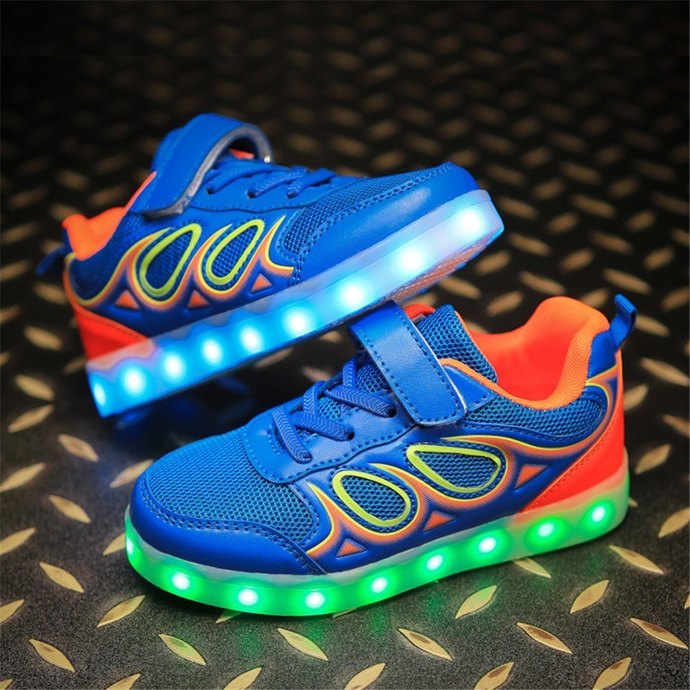 FG21ds21g LED Light Up Shoes Toddler Sport Running Casual Colorful Light Shoes Boys Girls LED Luminous Sneakers for Kids Girls