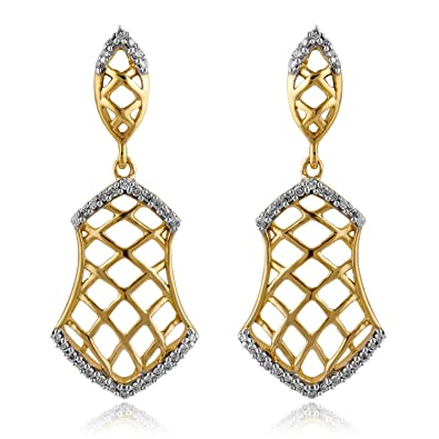 Senco Gold 14KT Yellow Gold and Diamond Stud Earrings for Women Women