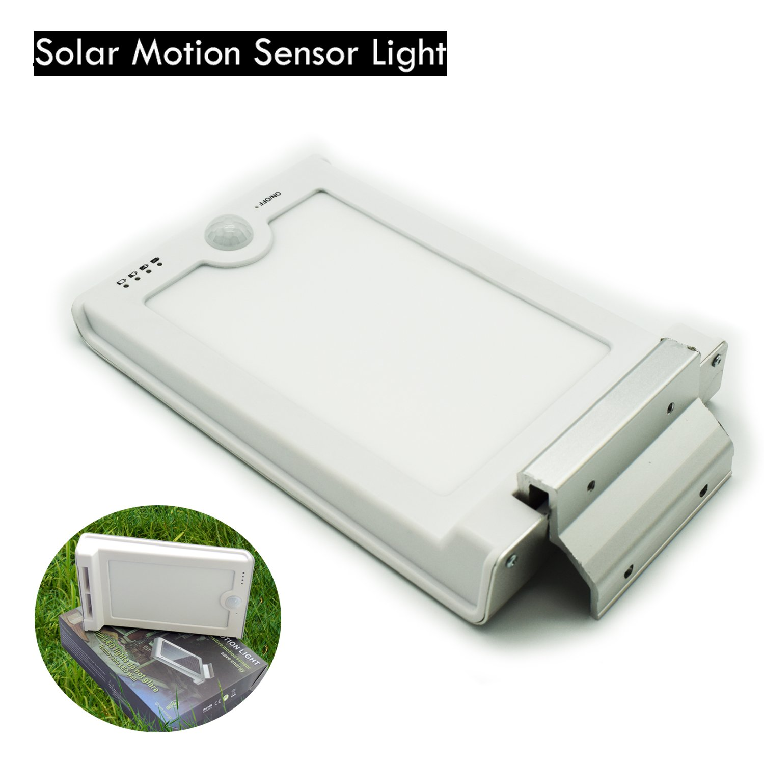 Amazon.com: Solar Motion Sensor Light, Hann LED Solar Side Lighting Style  Ultra-thin Wall Lamp Save Energy Outdoor Street Waterproof Wall Light(Ultra-thin):  ...