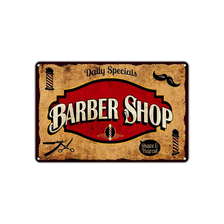 BorisMotley - Cartel de aluminio con diseño de barbería y ...